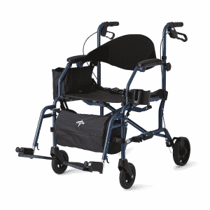 Hybrid rollator transport chair medline