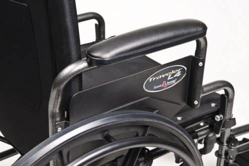 Wheelchair lightweight Traveler L4 with flip back desk arm
