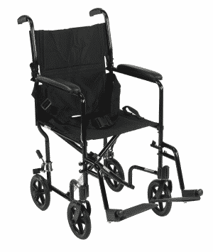 Lightweight aluminium transport chair