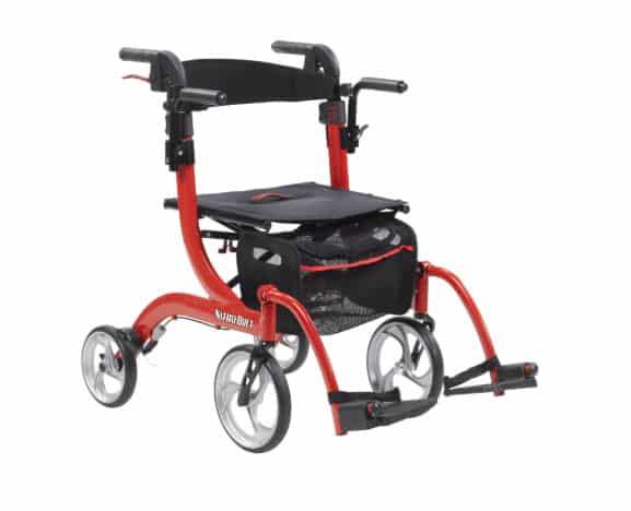Déambulateur hybride et chaise de transport Nitro Duet